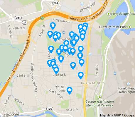 map of Aurora Highlands apartments for rent