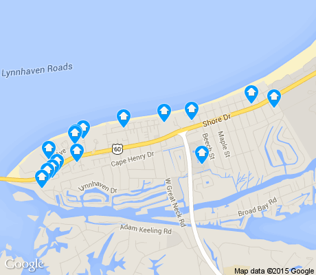 map of Lynnhaven Shores apartments for rent