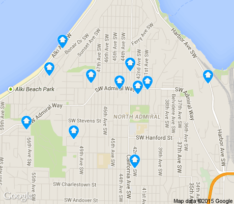 map of Admiral apartments for rent
