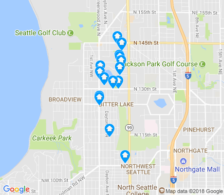 map of Bitter Lake apartments for rent