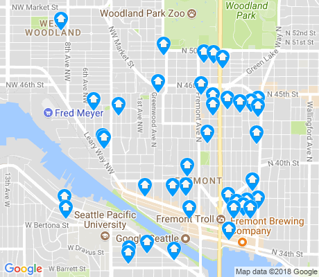 map of Fremont apartments for rent