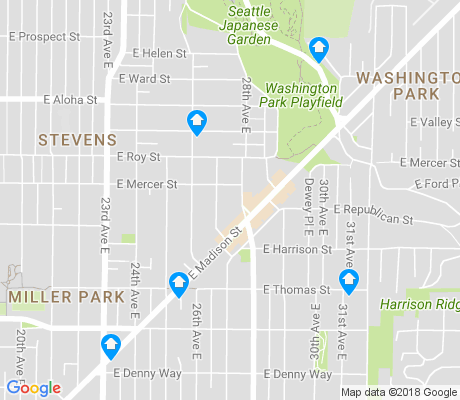map of Madison Valley apartments for rent