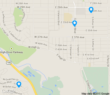 map of Comstock apartments for rent