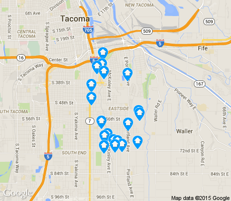 map of Eastside/ENACT apartments for rent