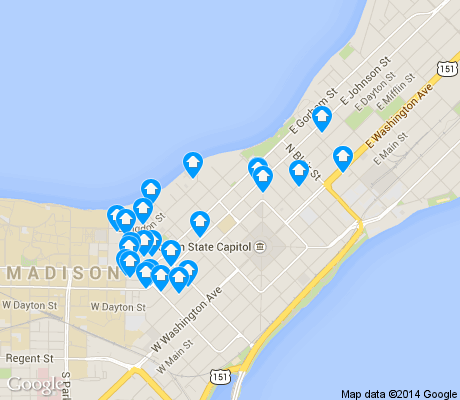 map of Capitol apartments for rent