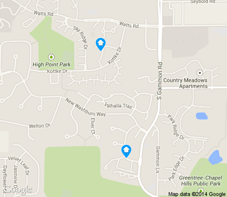 map of High Point Estates apartments for rent