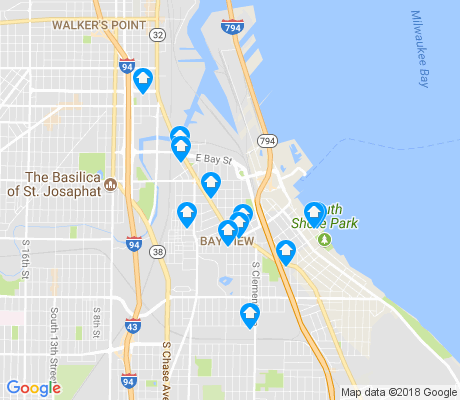map of Bay View apartments for rent