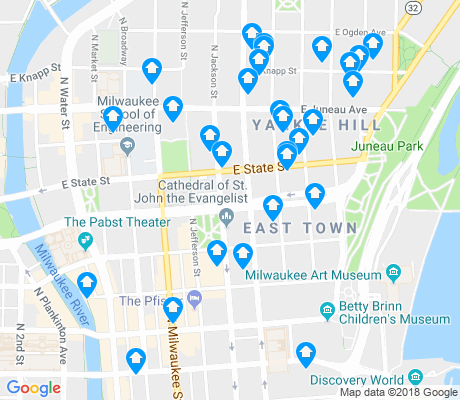 map of Juneau Town apartments for rent