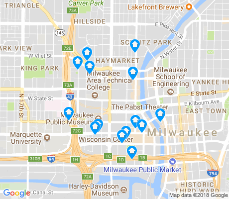 map of Kilbourn Town apartments for rent