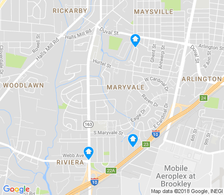 map of Maryvale apartments for rent
