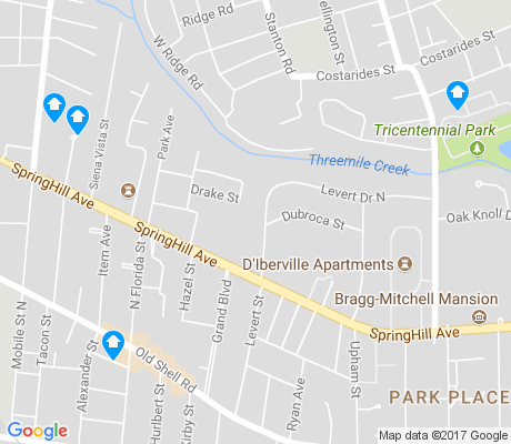 map of Park Place apartments for rent