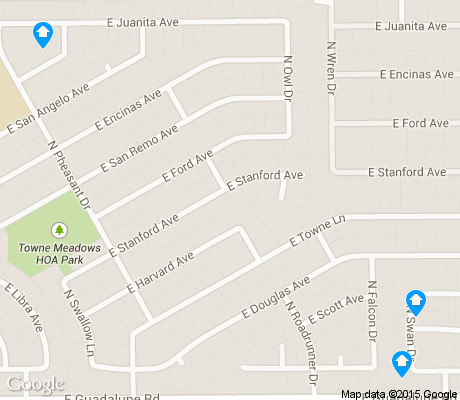 map of Towne Meadows apartments for rent