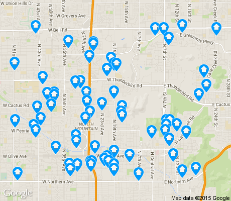 map of North Mountain apartments for rent