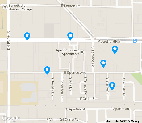 map of Jen Tilly Terrace apartments for rent