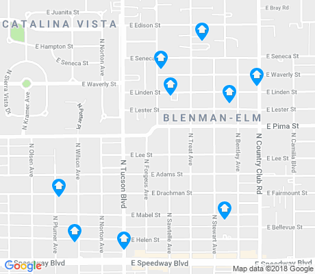 map of Blenman-Elm apartments for rent