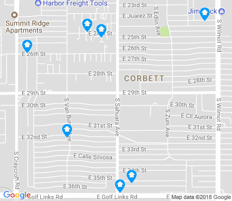 map of Corbett apartments for rent