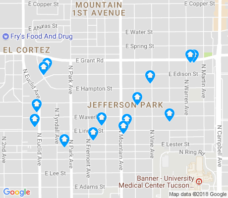 map of Jefferson Park apartments for rent