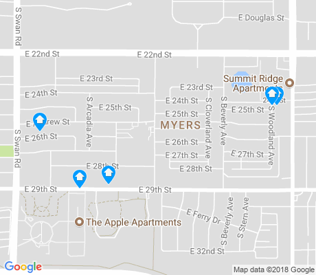 map of Myers apartments for rent