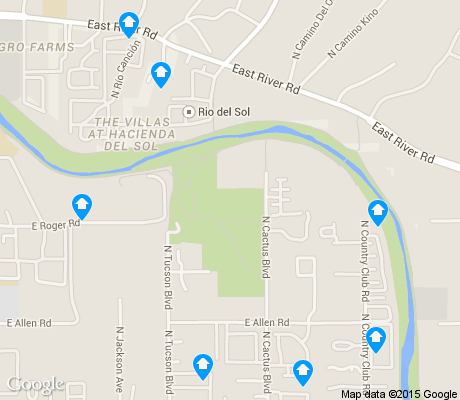 map of Prince Tucson apartments for rent