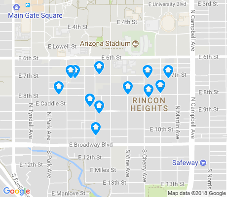 map of Rincon Heights apartments for rent
