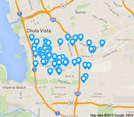 map of Southwest apartments for rent