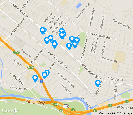 map of Grand Central apartments for rent