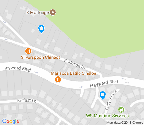 map of Hayward Highland apartments for rent