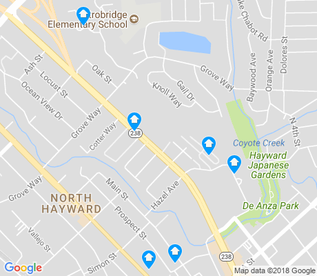 map of North Hayward apartments for rent