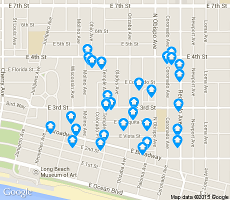 map of Bluff Heights apartments for rent