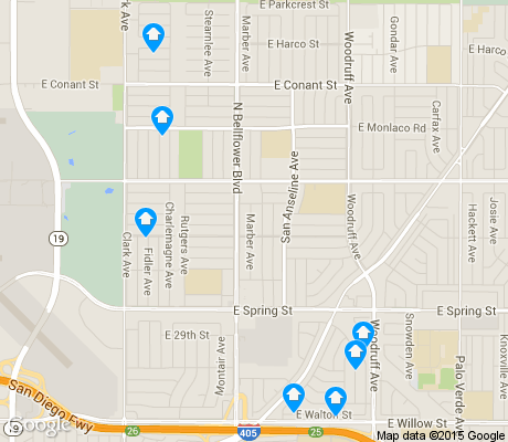 map of City College Area apartments for rent