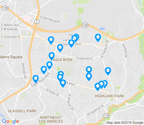 map of Eagle Rock apartments for rent