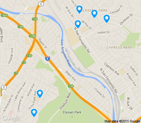 map of Elysian Valley apartments for rent