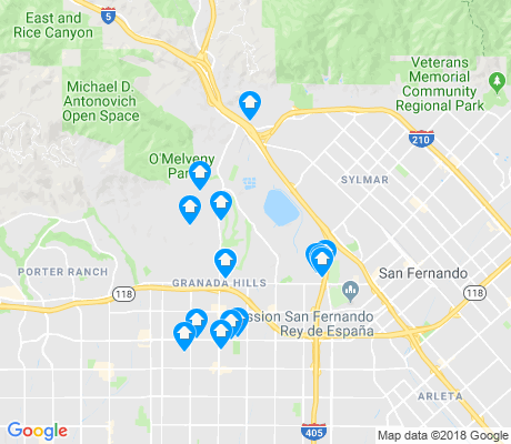 map of Granada Hills apartments for rent