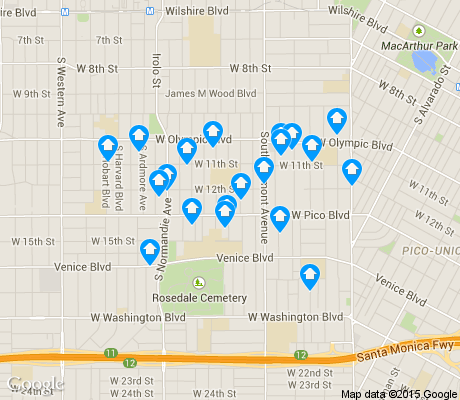 map of Harvard Heights apartments for rent