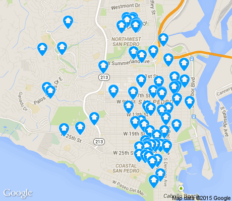 map of San Pedro apartments for rent