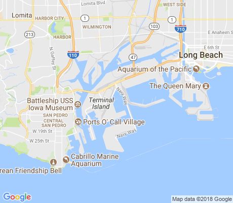map of Terminal Island apartments for rent
