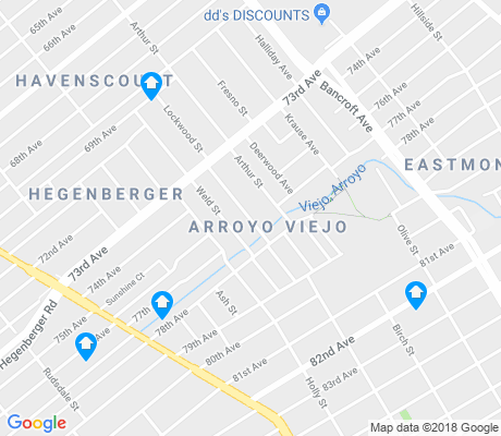 map of Arroyo Viejo apartments for rent