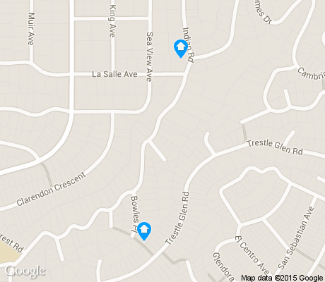 map of Crocker Highland apartments for rent