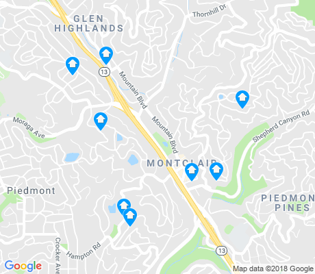 map of Montclair apartments for rent