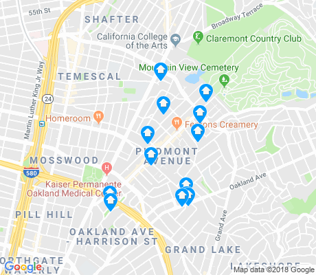 map of Piedmont Avenue apartments for rent