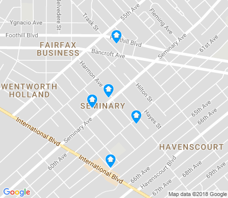 map of Seminary apartments for rent