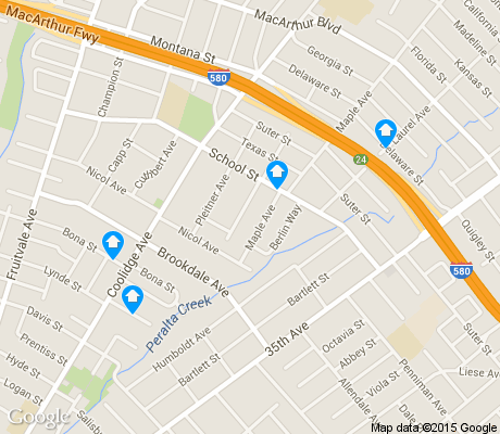 map of Upper Peralta Creek apartments for rent