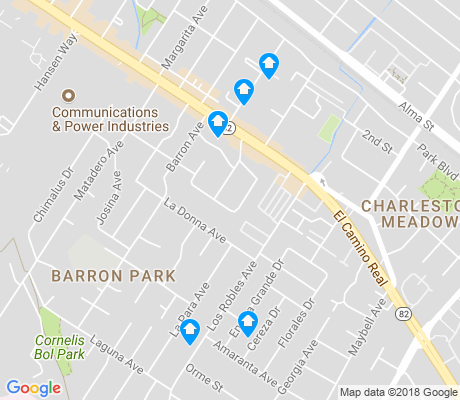 map of Barron Park apartments for rent