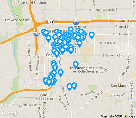 map of South apartments for rent