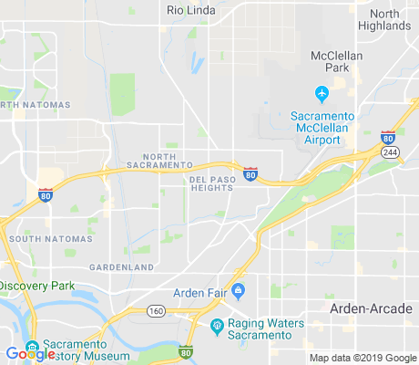 map of Del Paso Heights apartments for rent
