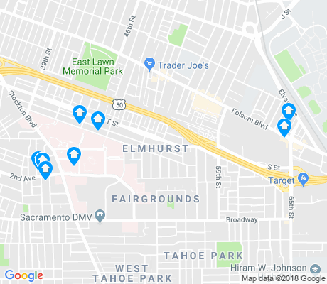 map of Elmhurst apartments for rent