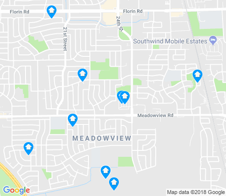 map of Meadowview apartments for rent