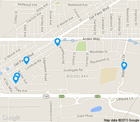 map of Woodlake apartments for rent