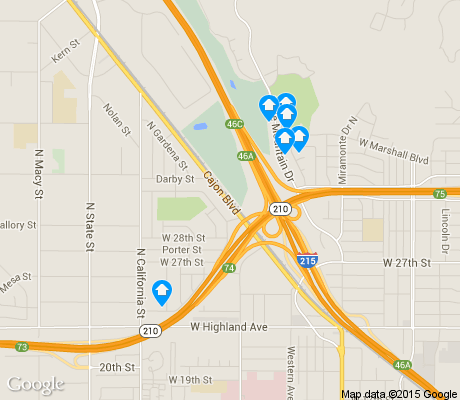 map of Delman apartments for rent