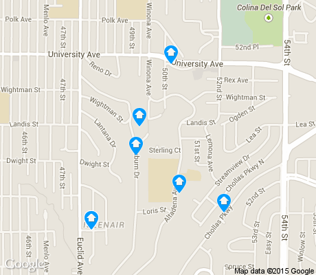 map of Chollas Creek apartments for rent